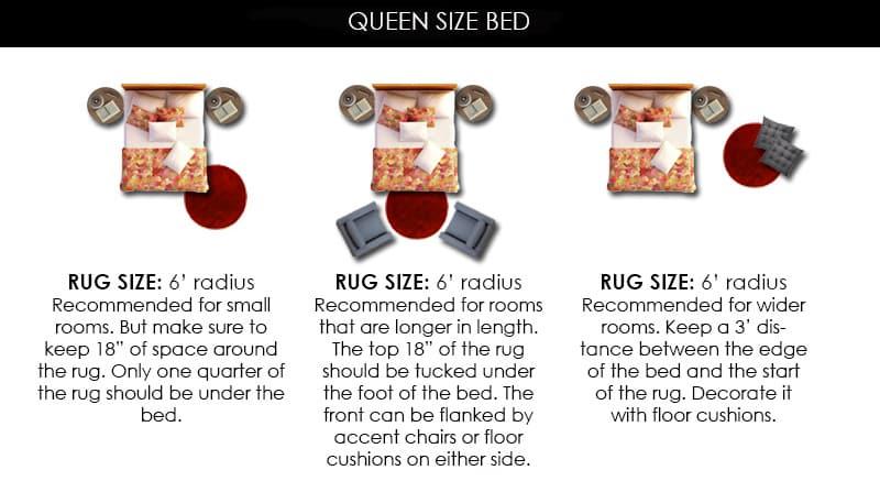 6' Round Rug Under Queen Bed