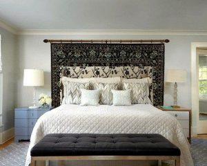 Bed Head Rug as Wall Art