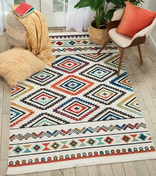 Carice Red Area Rug