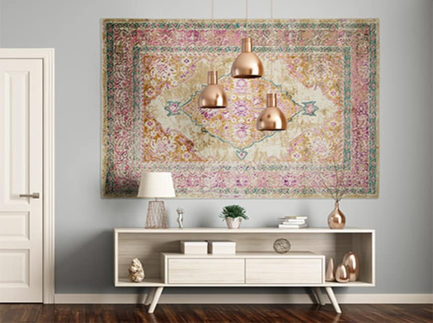 Hanging an Oriental Rug on the Wall as Art Decor