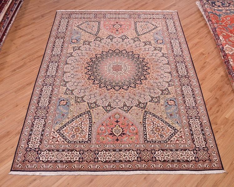 Persian Fine Tabriz Part Silk Carpet