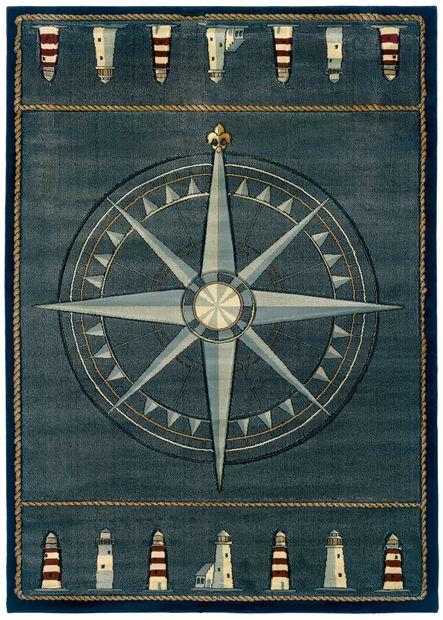 Multi Compass Rose Area Rug