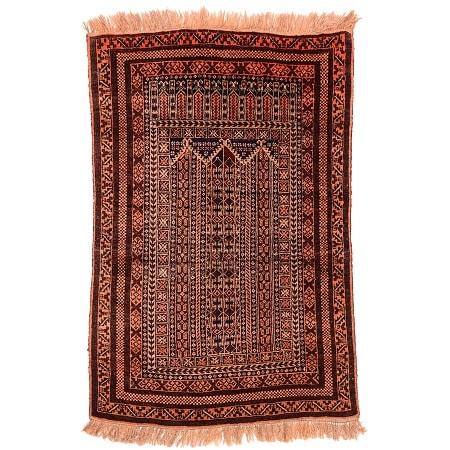 Semi-Antique Belouch Prayer Rug