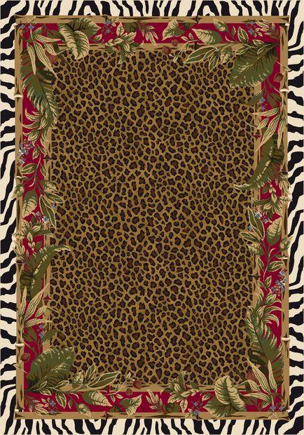 Ruby Jungle Safari Area Rug
