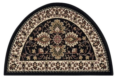 Fanchon Beautiful Hearth Slice Black Indoor Outdoor Area Rug