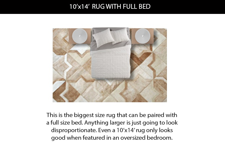 10x14 Rug Size under Full Bed