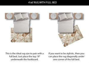 4x6 Rug Size under Full Bed
