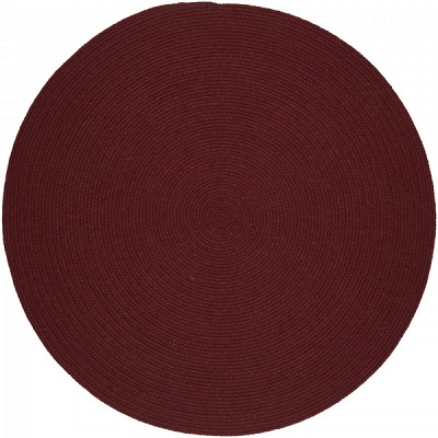 Red Wine Braided Reversible Area Rug