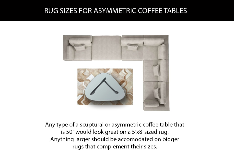 Rug Sizes for Asymmetric Coffee Tables