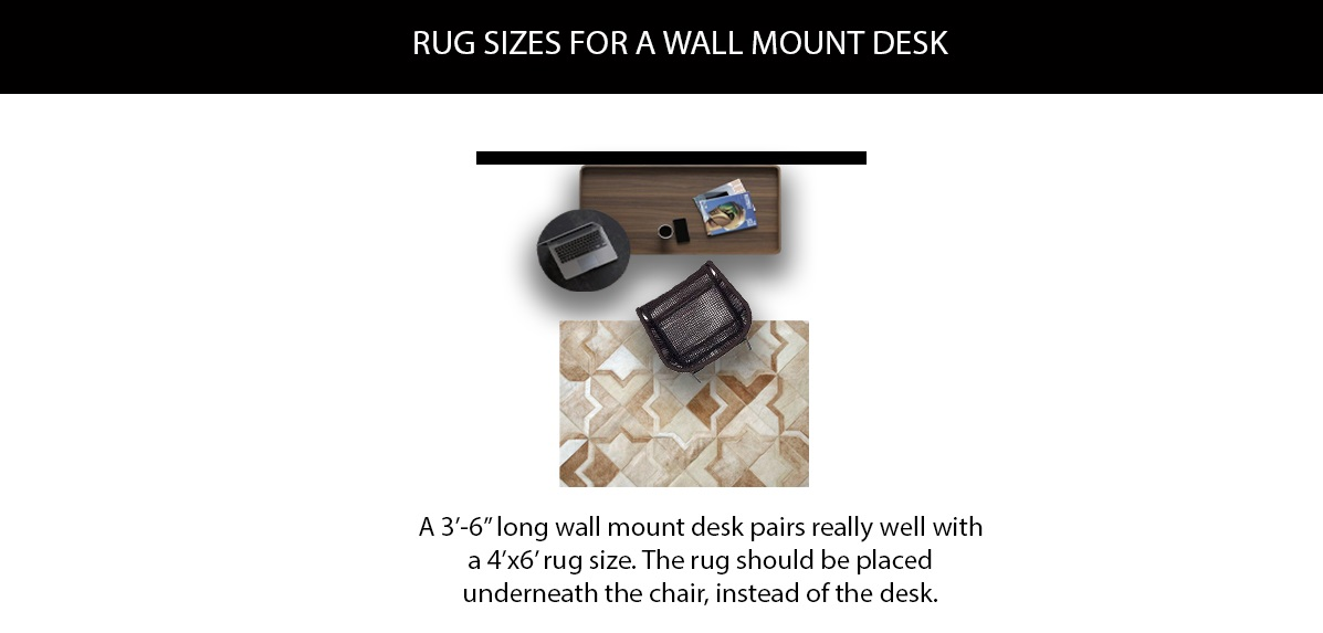 Rug Sizes for a Wall Mount Desk