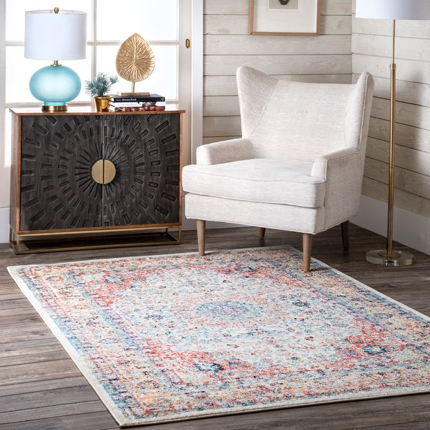 Gold Distressed Persian Area Rug