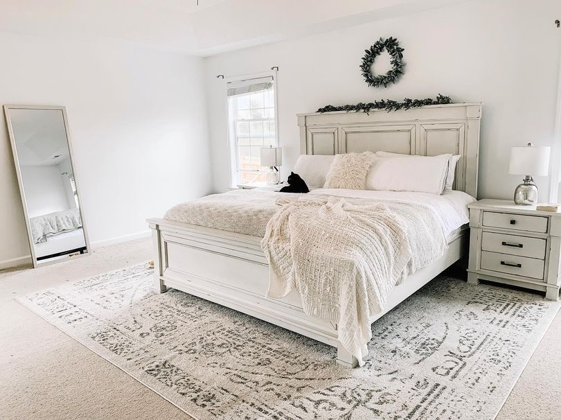 Gray Ring Around The Rosette Area Rug