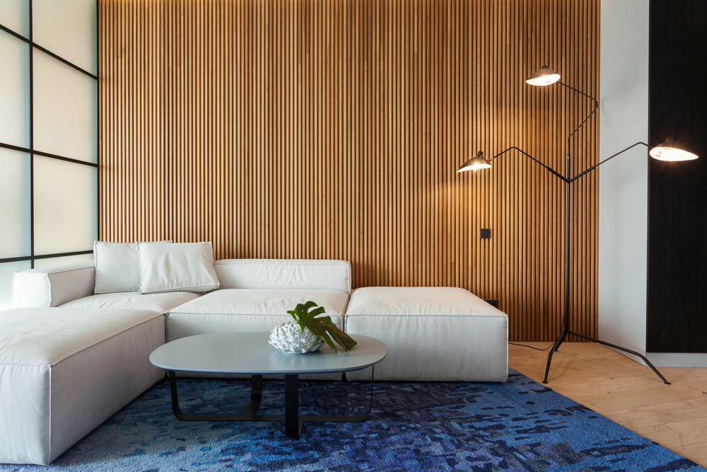 Blue modern soft fancy area rug