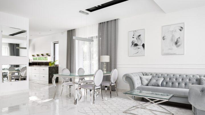 White area rug in white interior