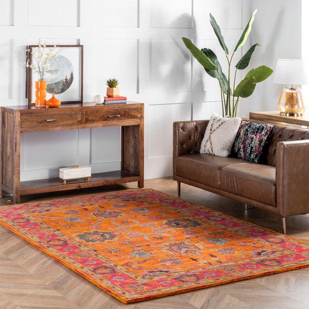 Orange Vibrant Adileh Area Rug